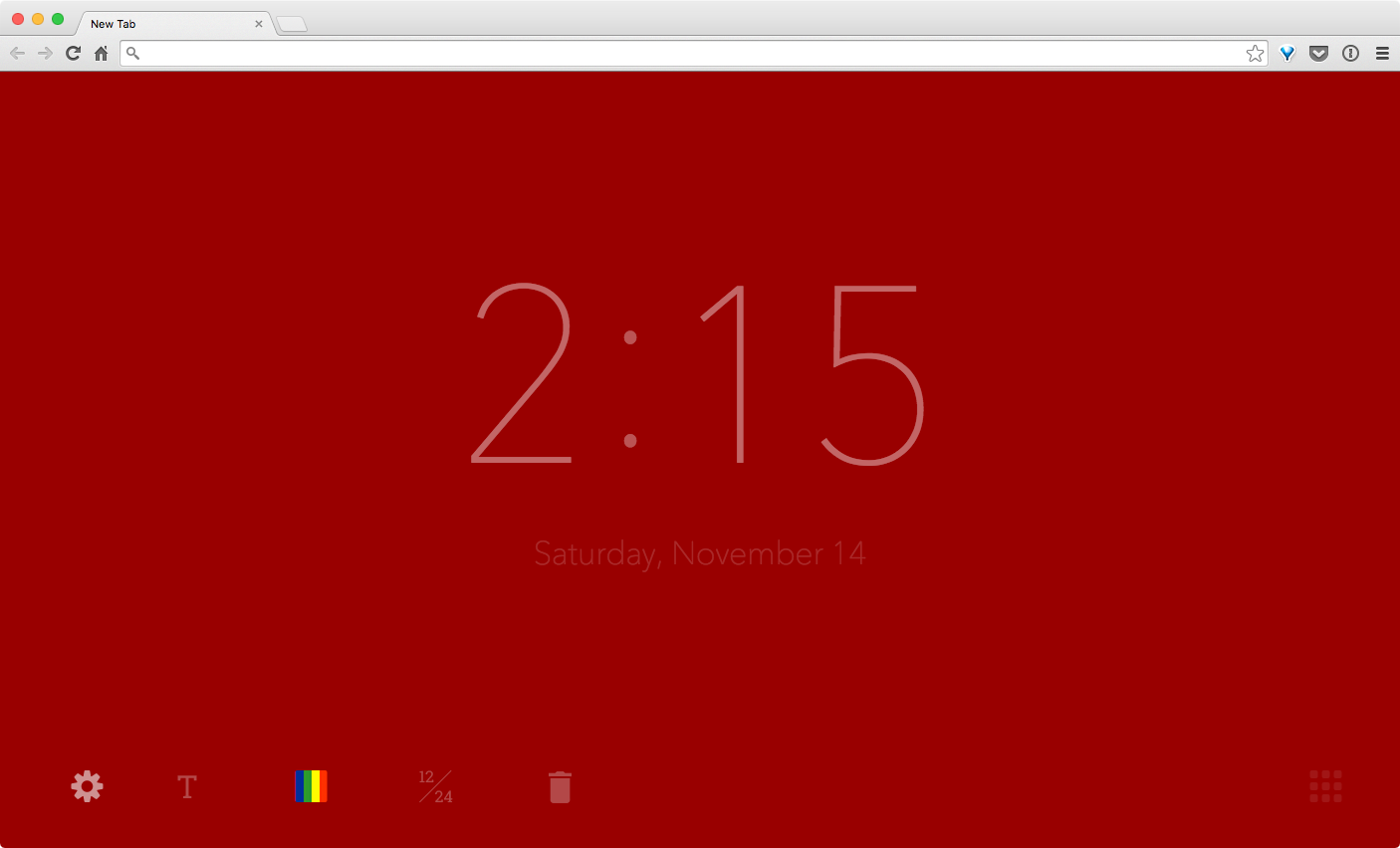 New Tab Clock